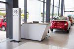Nissan nueva imagen de distribuidores NREDI 2.1 sala de exhibición en recepción