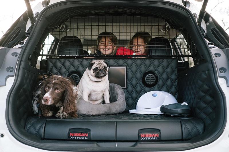 Nissan X-trail 4Dogs Para Perros Cama con espacio