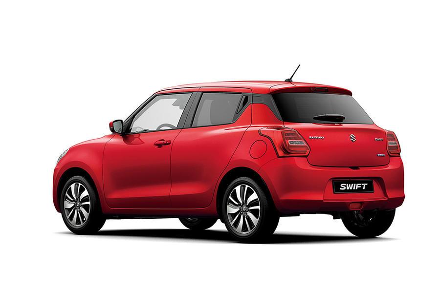 Suzuki Swift 2018 posterior de perfil