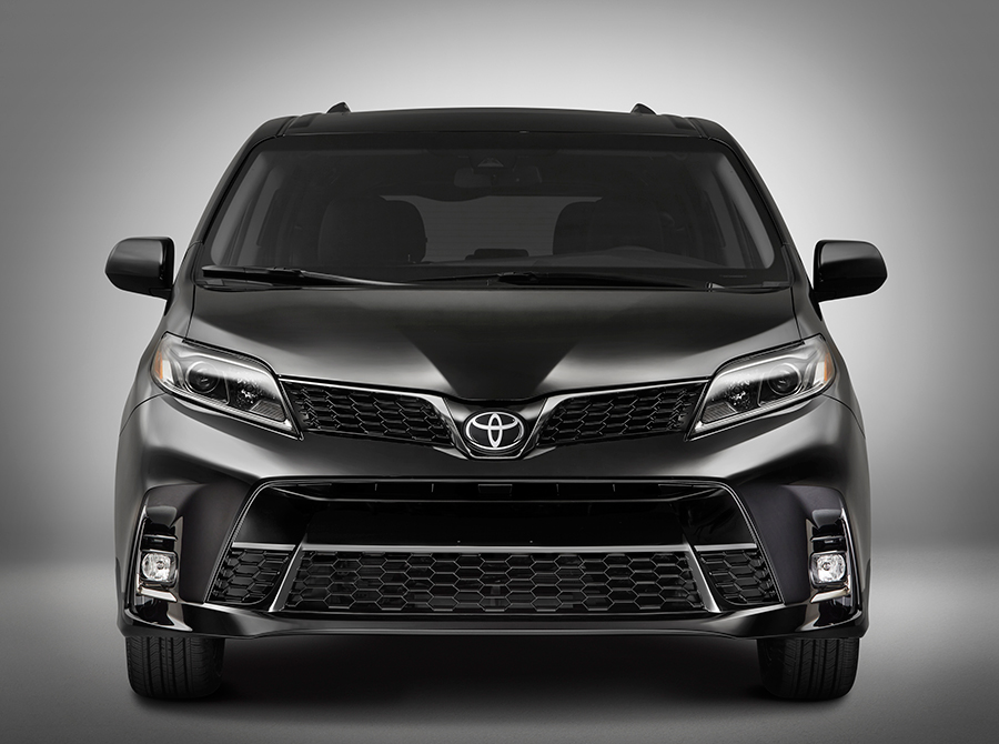 Toyota Sienna 2018 restyling nuevo frontal