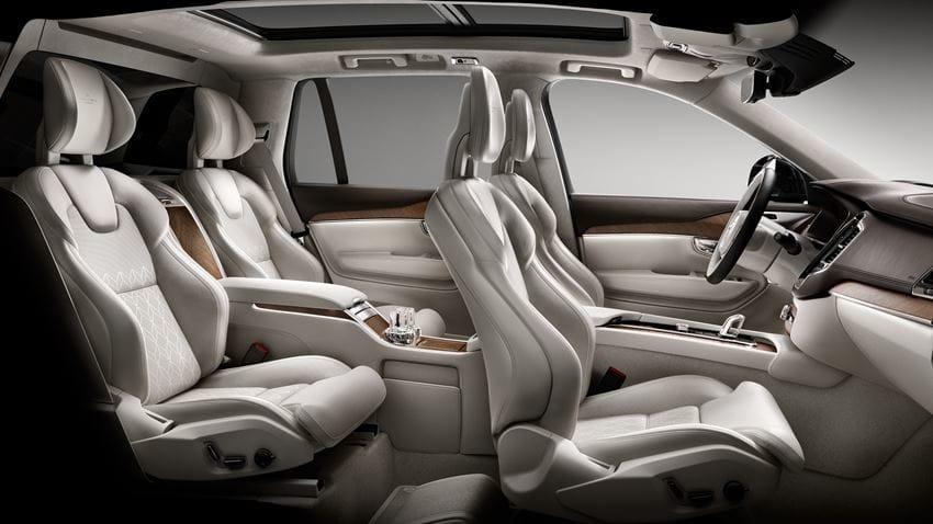 Volvo XC90 Excellence 2017 en México asientos lujosos con detalles Excellence