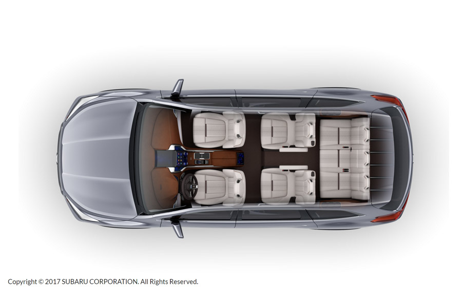 Subaru Ascent 2018 concepto siete pasajeros tres filas
