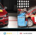 Kia Rio Sedán y Chevrolet Onix con resultados pésimos en seguridad en el Latin NCAP 2017