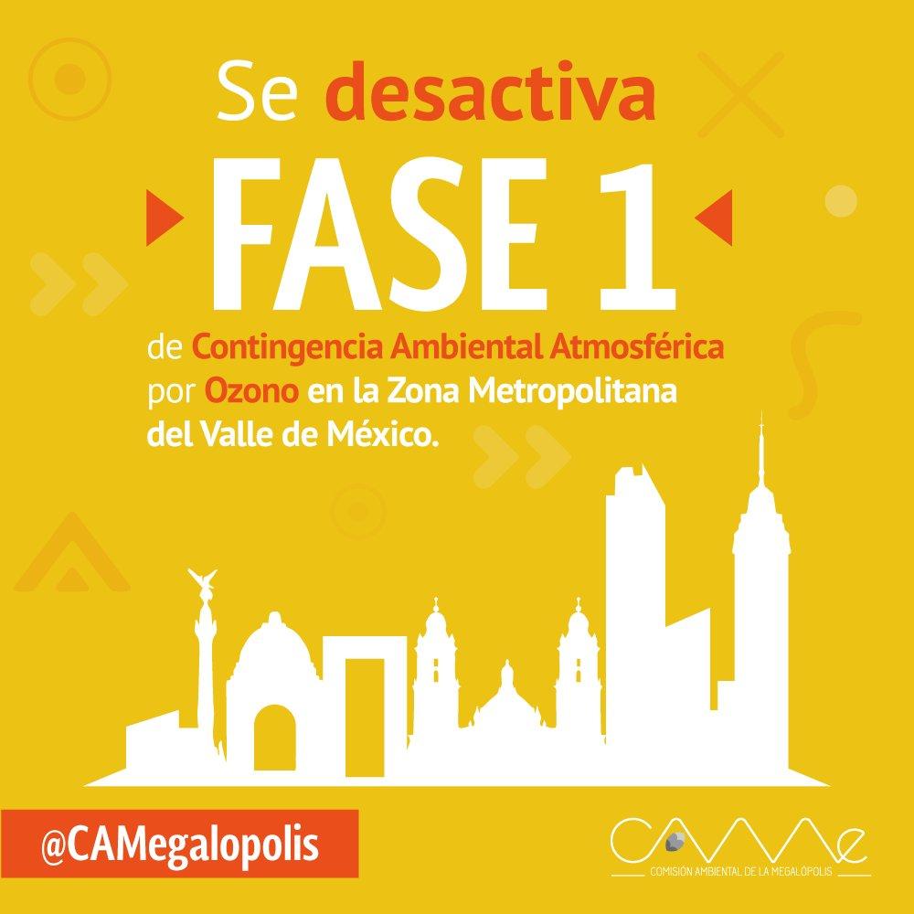 Hoy 25 de mayo se suspende contingencia ambiental en la Zona Metropolitana del Valle de México
