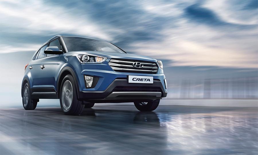 Hyundai Creta 2018 en México color azul de enfrente