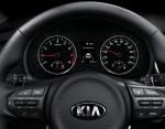Kia Río Sedán 2018 volante con controles