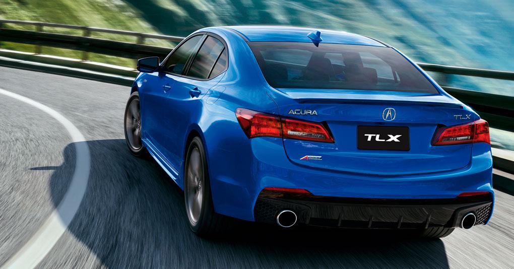 Acura TLX 2018  en México  color azul posterior