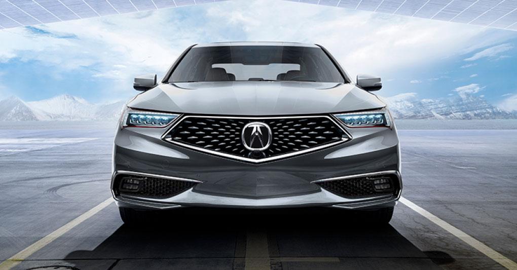Acura TLX 2018  en México  color blanco frente nueva parrilla diamante