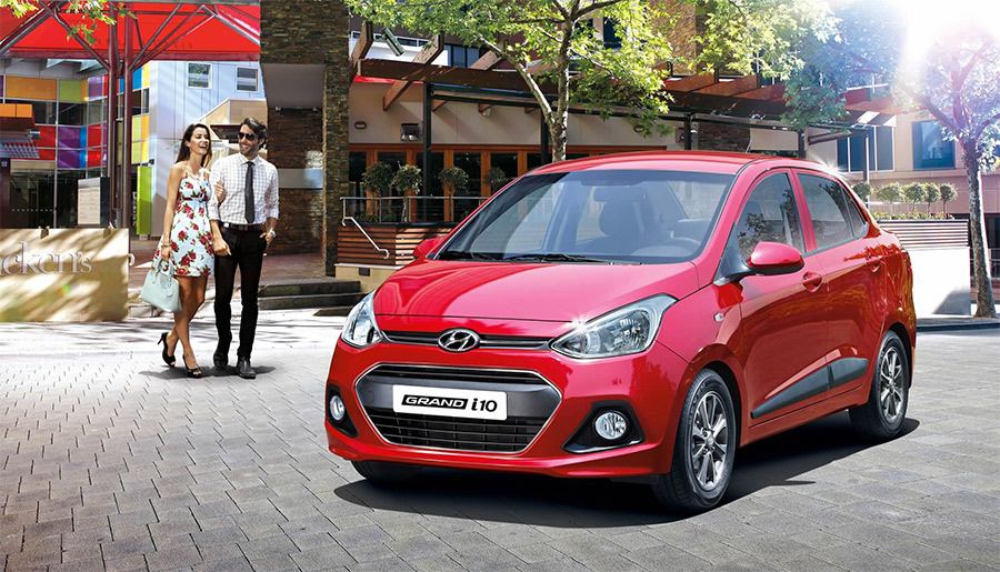 Hyundai Grand i10 2018 en México color rojo