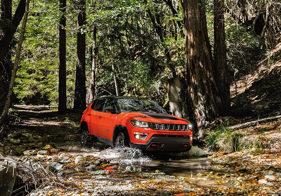 Jeep Compass 2018 red