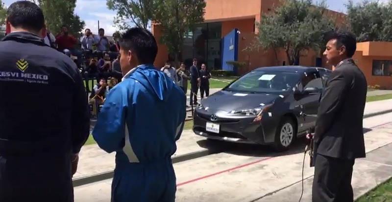 Totyota Pirus 2017 prueba Cesvi