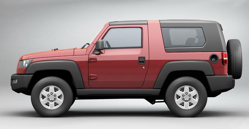 BAIC BJ40 en México 4x4 SUV color rojo lateral
