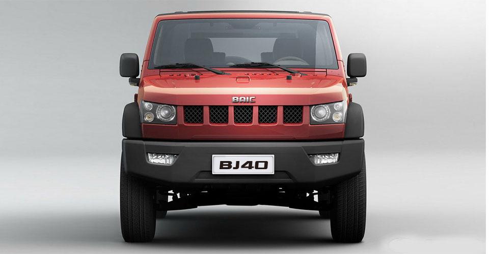 BAIC BJ40 en México 4x4 SUV color rojo frente