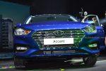 Hyundai Accent 2018 presentación en México frente parrilla color azul