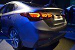 Hyundai Accent 2018 presentación en México faros traseros led y defensa izquierda