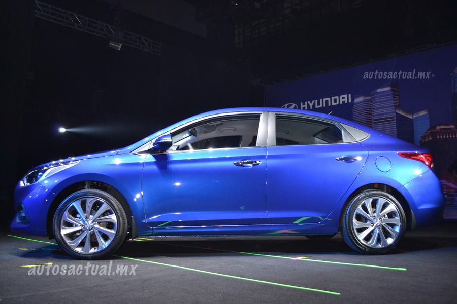 Hyundai Accent 2018 presentación en México color azul ...