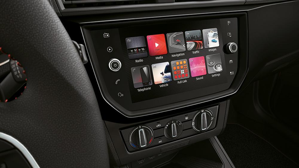 Seat Ibiza 2018 México pantalla touch con Android Auto y Apple CarPlay