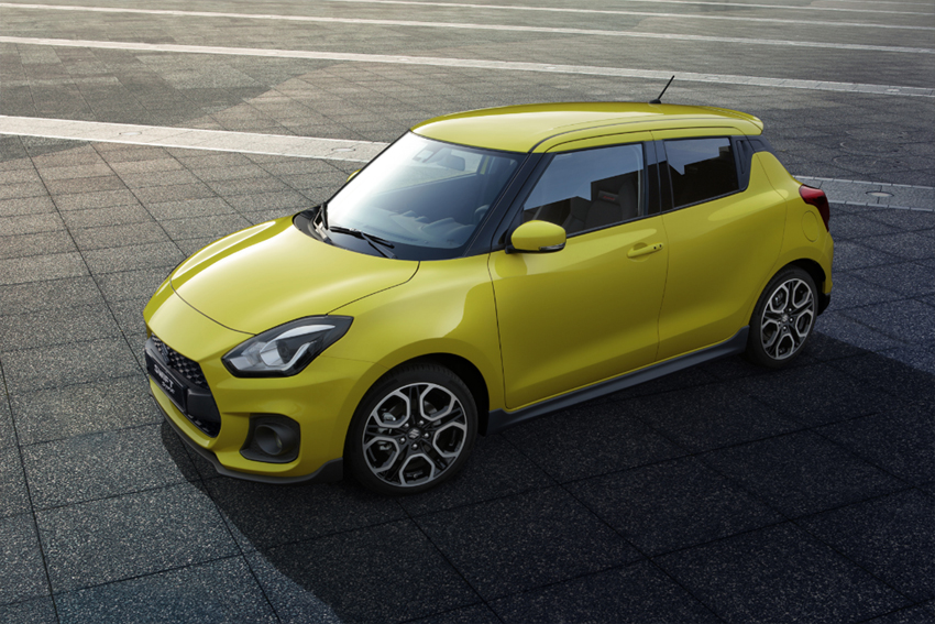 Suzuki Swift Sport 2018 vista cenital