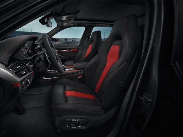 BMW X5 M y X6 M Edition Black Fire interior