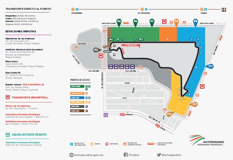 Plan de movilidad Fórmula 1 México