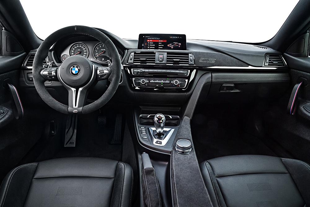 BMW M4 CS 2018 en México interior pantalla touch de 8.8 pulgadas volante forrado de frente