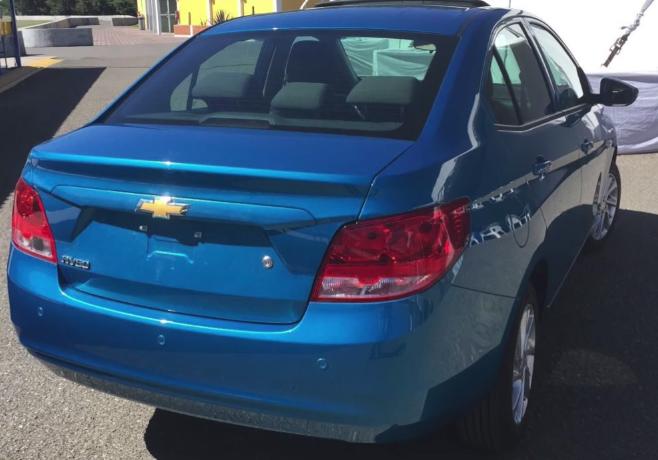 Este es el Chevrolet Aveo 2019 para México posterior cajuela