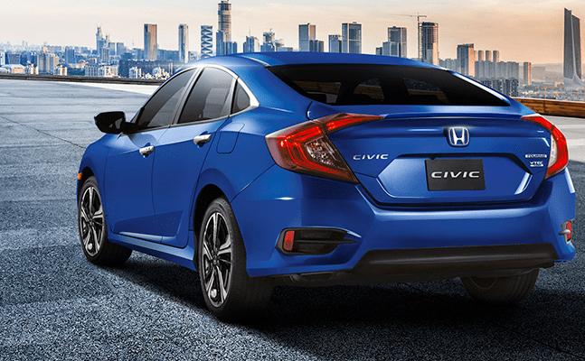Honda Civic 2018 en México, posterior
