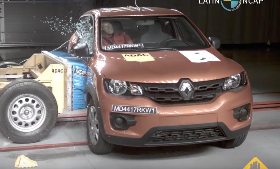Renault Kwid 2018 en Latin NCAP impacto lateral