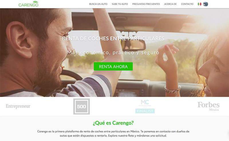 Carengo renta de autos particulares México plataforma