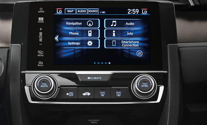 Honda Civic 2018 México interior pantalla