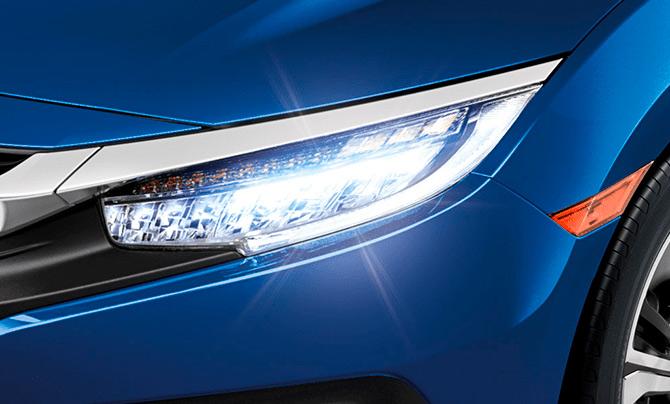 Honda Civic 2018 México faros LED frontales
