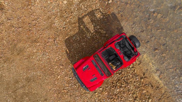Jeep Wrangler 2018 México exterior vista aerea