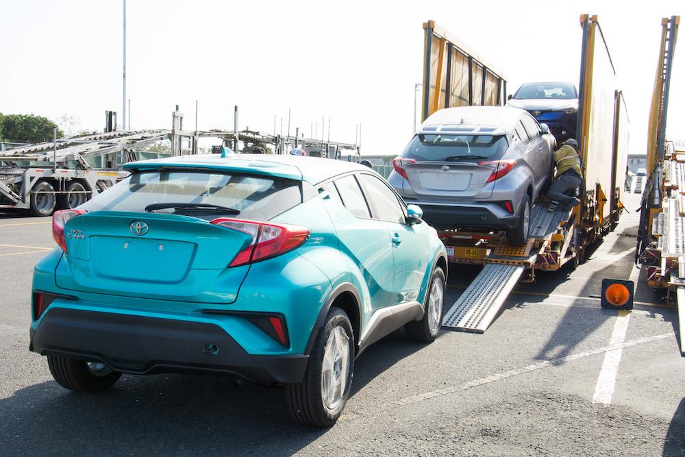 Toyota CH-R 2018 llegando a México en puerto