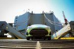 Toyota Prius C 2018 llegando a México en puerto - color verde parte frontal