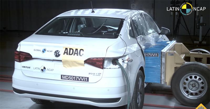 Volkswagen Vento 2019 en pruebas Latin NCAP