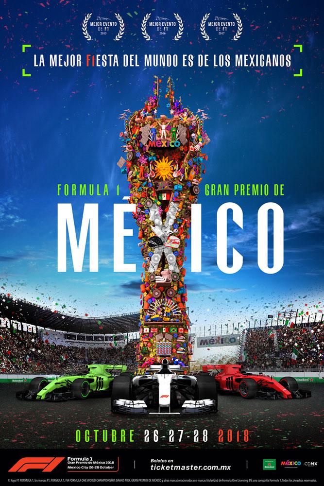 Cartel Gran Premio Fórmula 1 México 2018