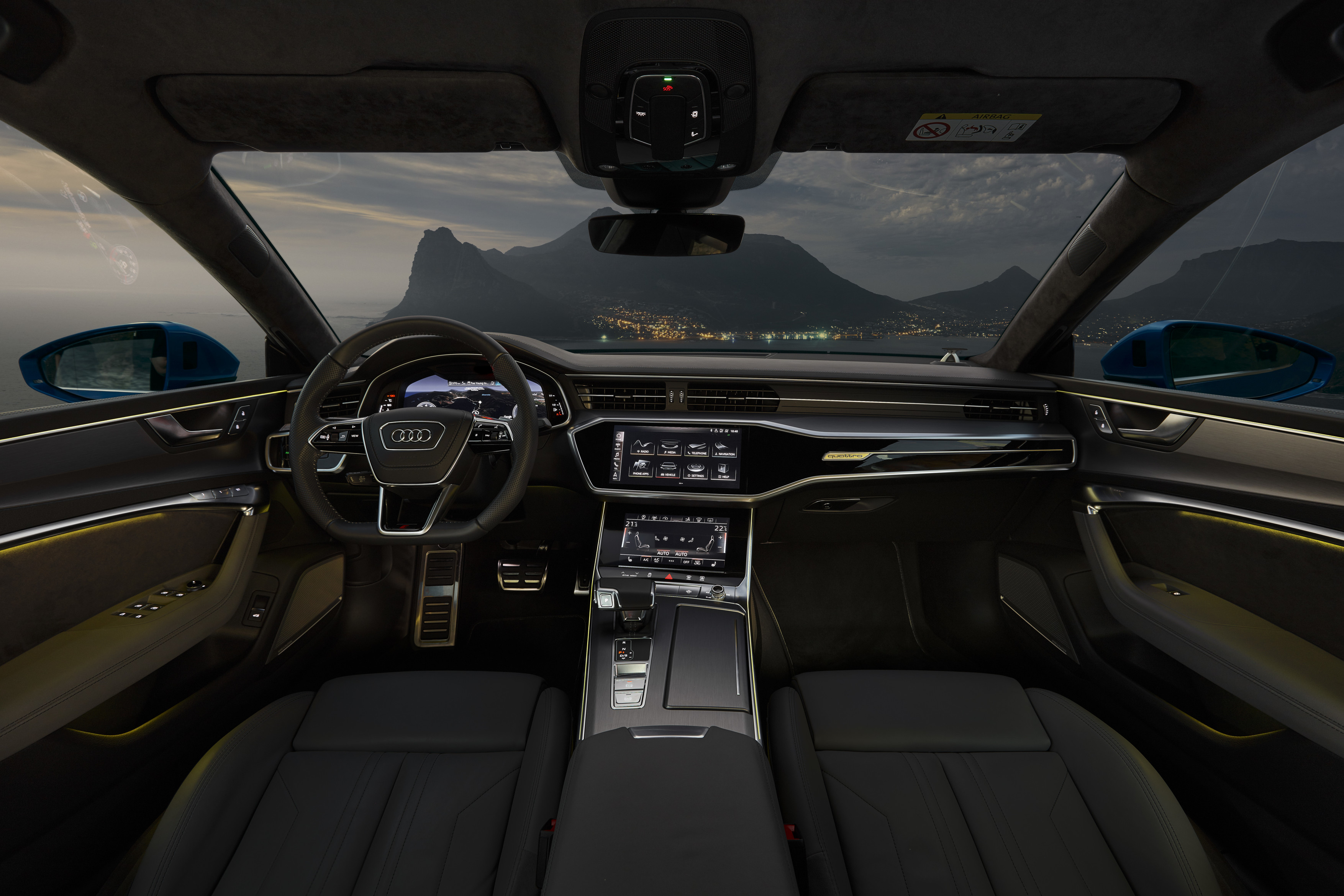 Audi A7 Sportback 2019 azul - interior totalmente digital