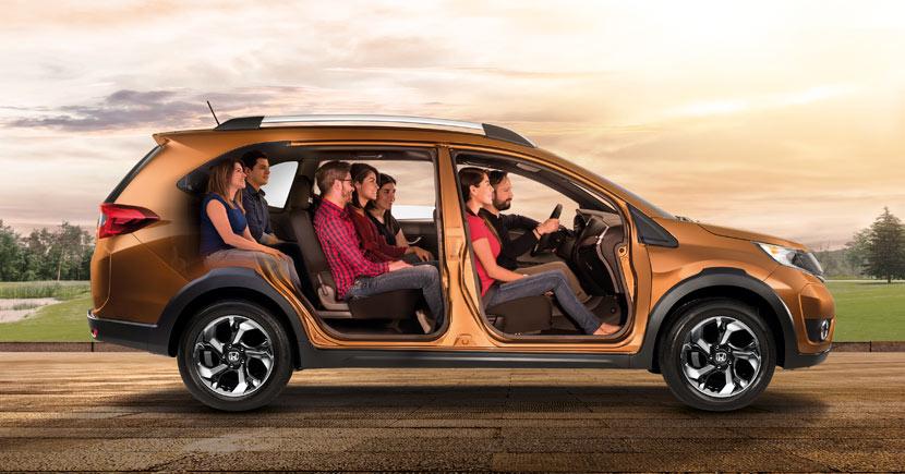 Honda BR-V 2018 en México - interiores y sus tres filas para 7 pasajeros
