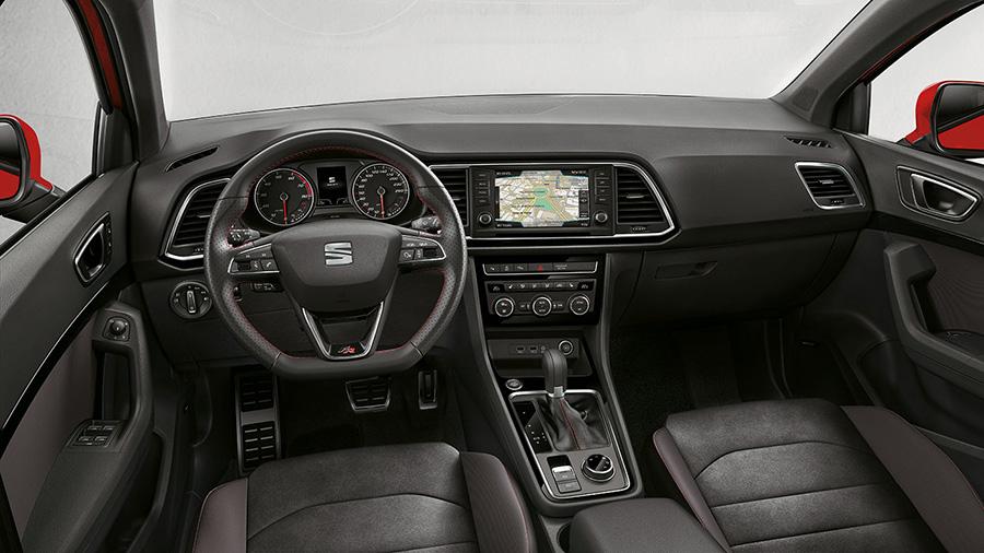 """Seat Ateca FR 2018 en México - interiores con pantalla de 8"""" touch"""