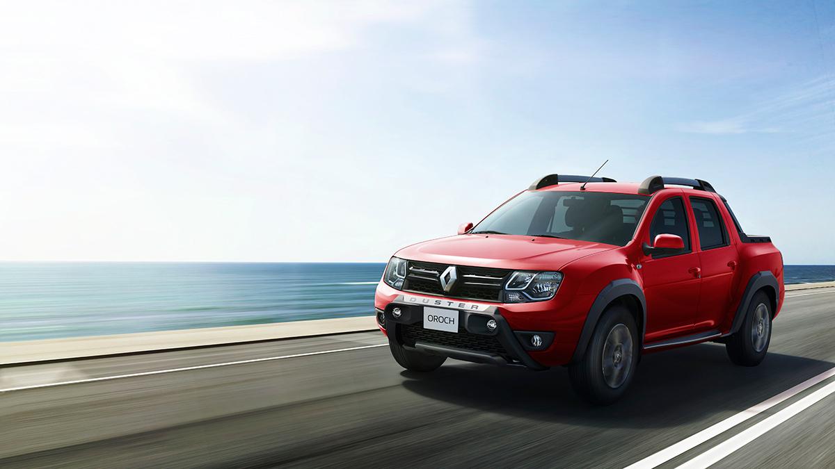 Renault Oroch 2018 en México en carretera color rojo