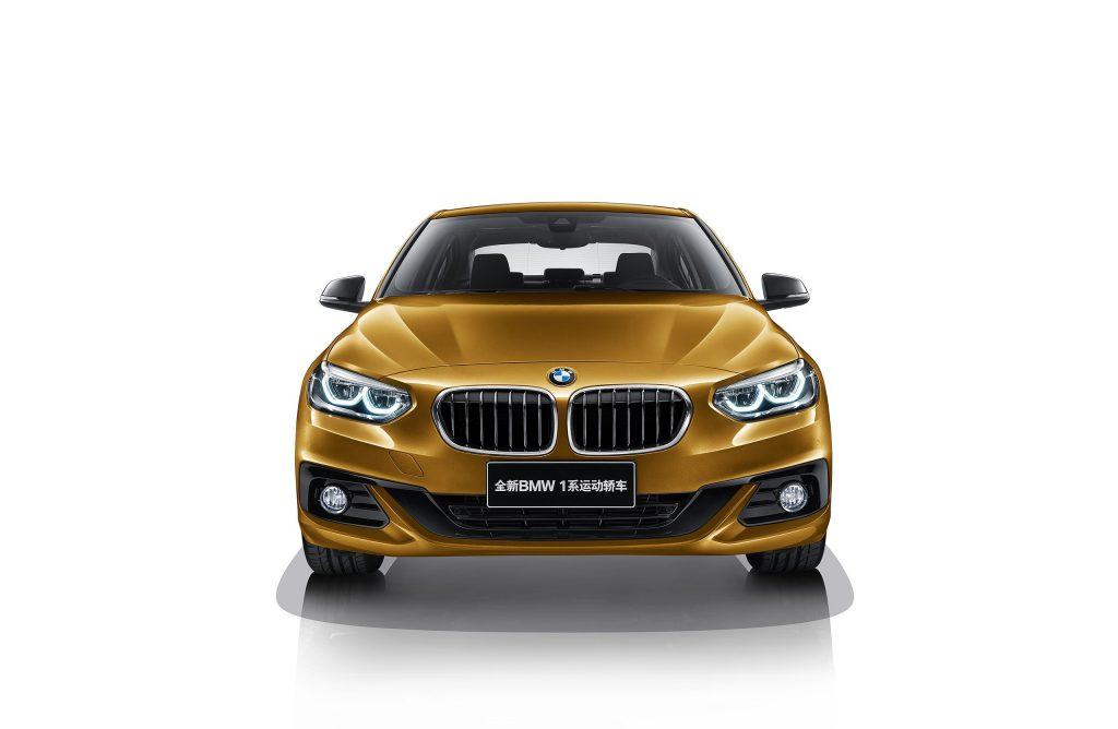 BMW Series 1 Sedán amarillo frente