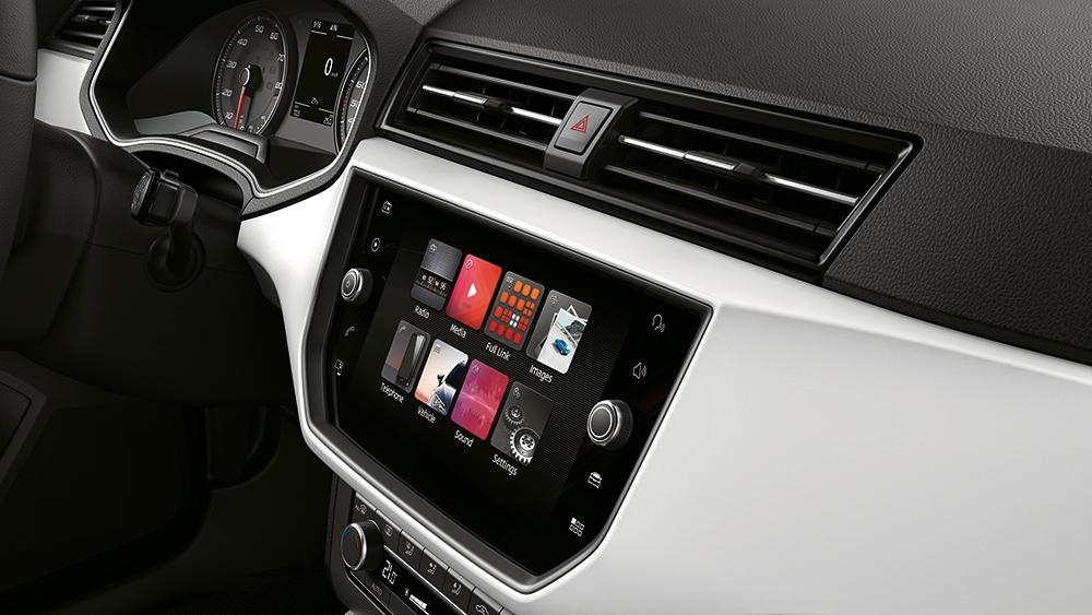 SEAT Arona en México - Pantalla touch de 8 pulgadas con Android Auto, Apple CarPlay y Mirrow Link