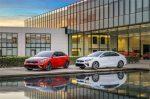 Kia Forte 2019 rojo y blanco