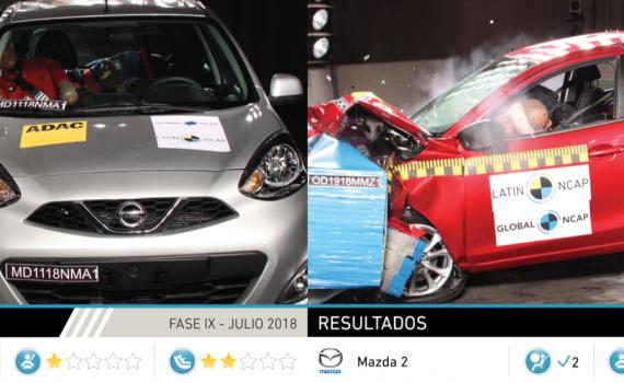 Nissan March y Mazda 2 prueba