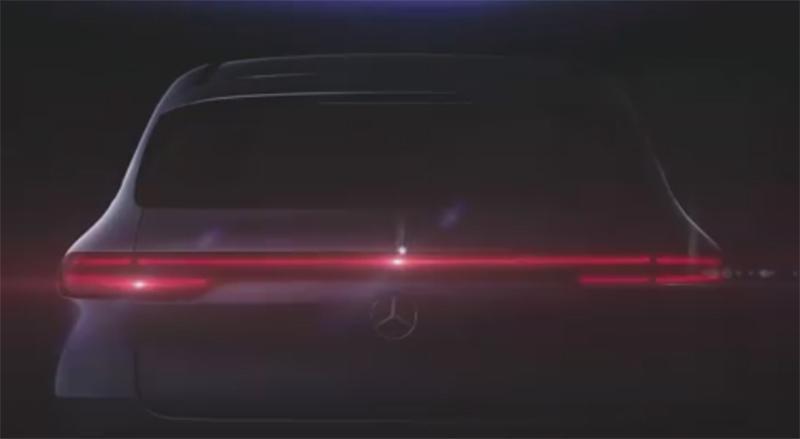 Mercedez-Benz EQC 2019 teaser posterior