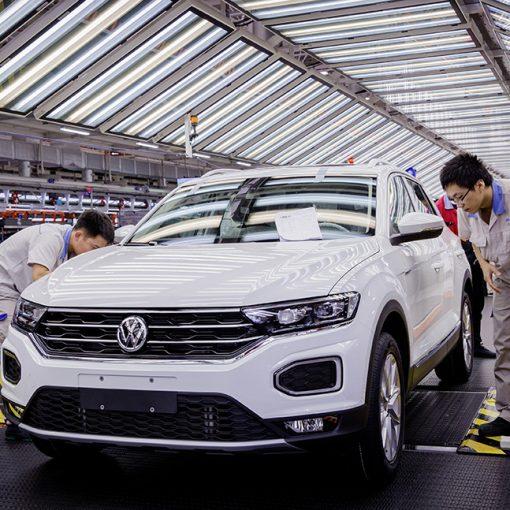 FAW Volkswagen empleados en fábrica de Foshan
