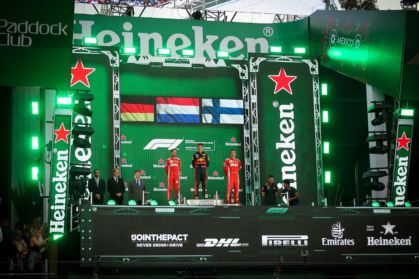 Formula 1 México 2018 podium