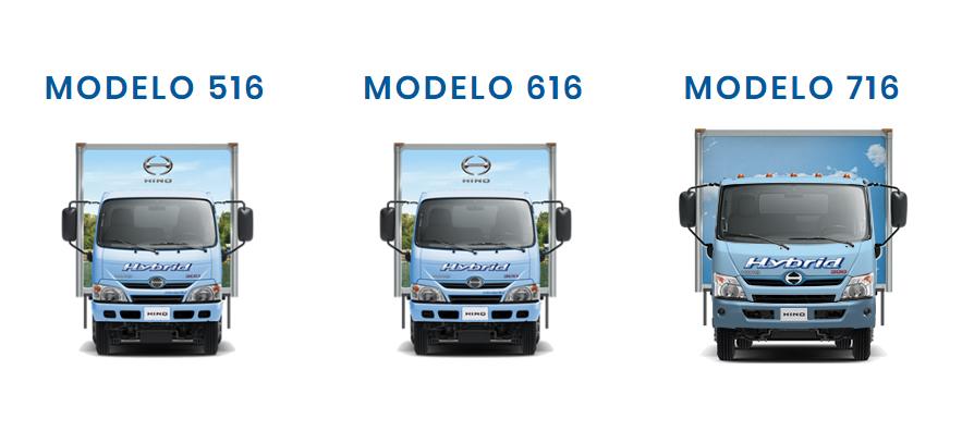 Hino Serie 300 Híbrido modelos