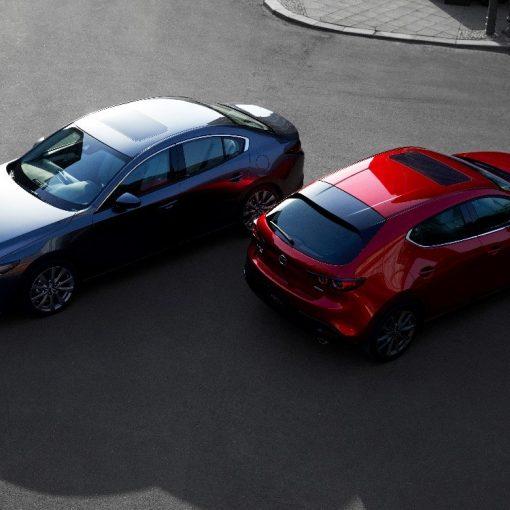 Mazda 3 2019 vista panorámica y cromáticas