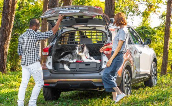 Nissan Kicks For Pets compartimiento trasero